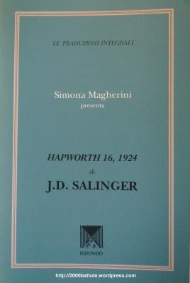 Hapworth 16 1924 - Salinger