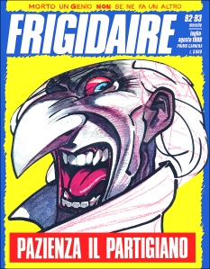 La copertina di Frigidaire quando Andrea Pazienza morì. Scòzzari racconta quel titolo.