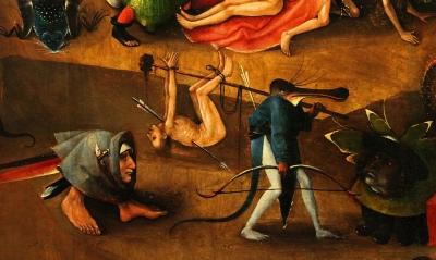 Trittico del Giudizio di Vienna, circa 1482 - Hieronymus Bosch (dettaglio del pannello centrale)